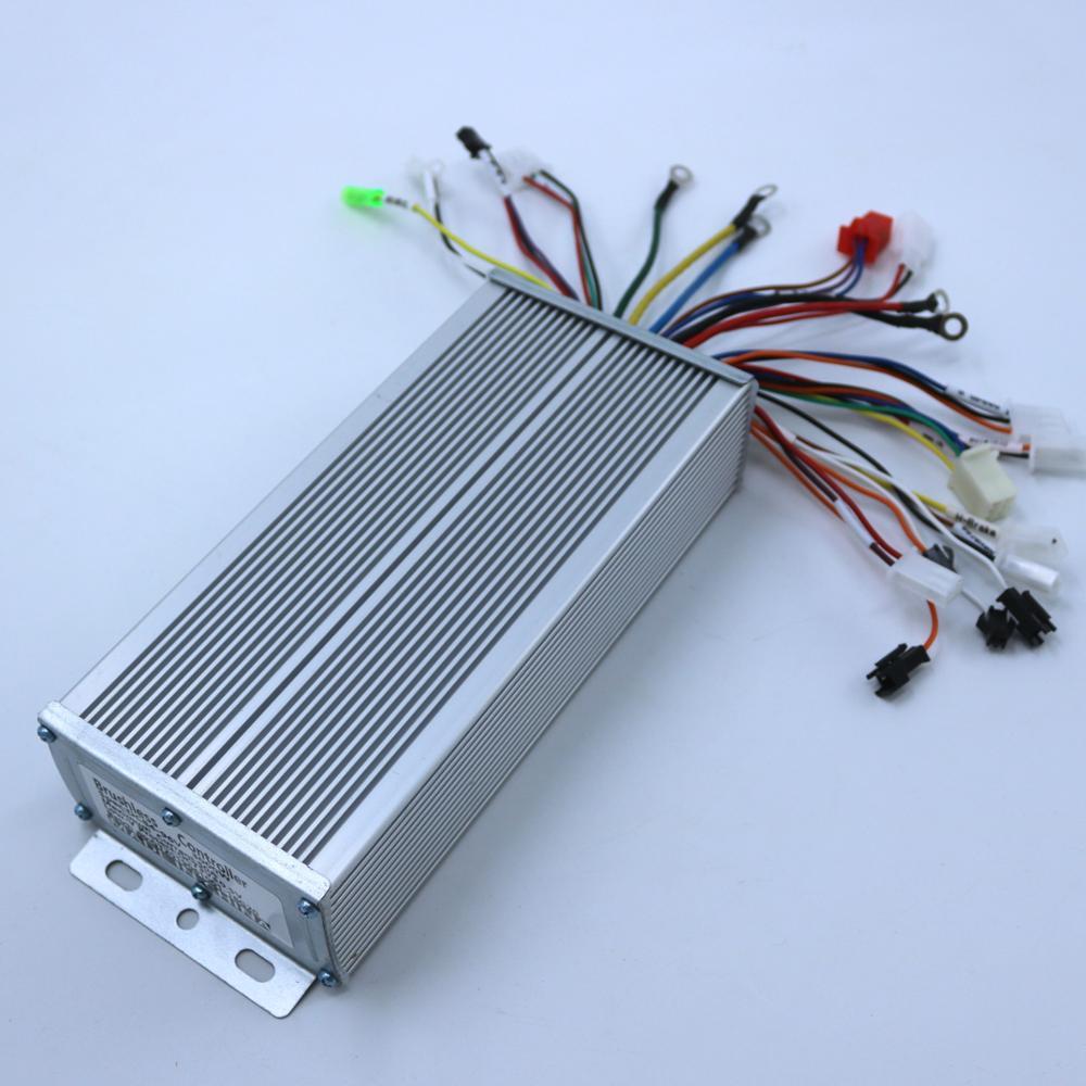 GREENTIME Sensor/sensorless Dual Mode 84-96V 2000W 50A BLDC Motor Controller E-bike Brushless Speed Controller