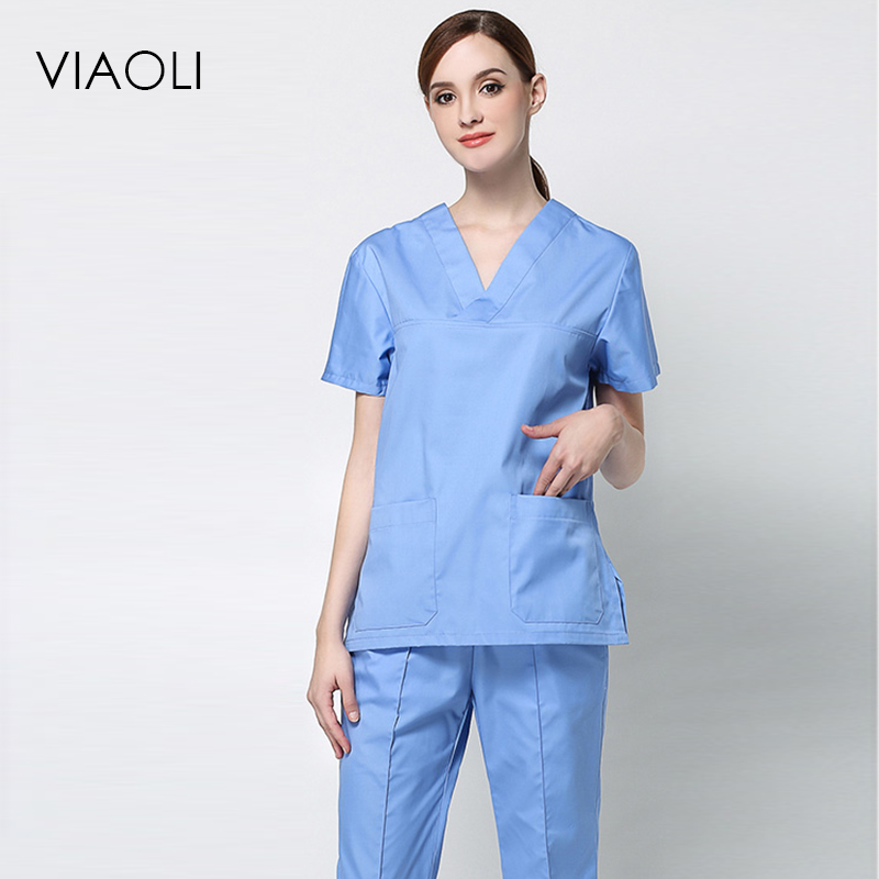 Inventive 2017 New Arrival Hospital Medical Women Scrub Sets Dental Clinic Workwear Clothes Beauty Salon Overalls Nursing Clothing Uniform Work Wear & Uniforms Scrub Sets