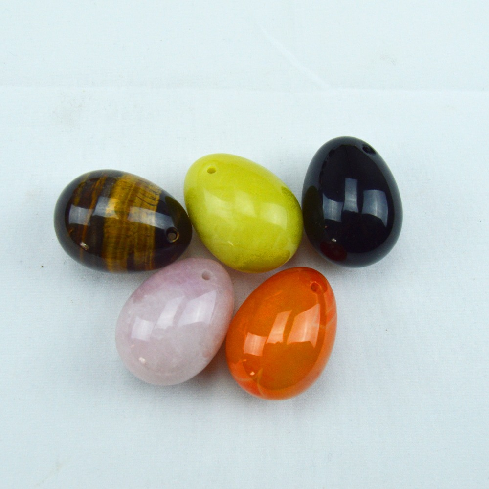 5 Pcs black obsidian pink quartz tiger eye lemon stone agate eggs