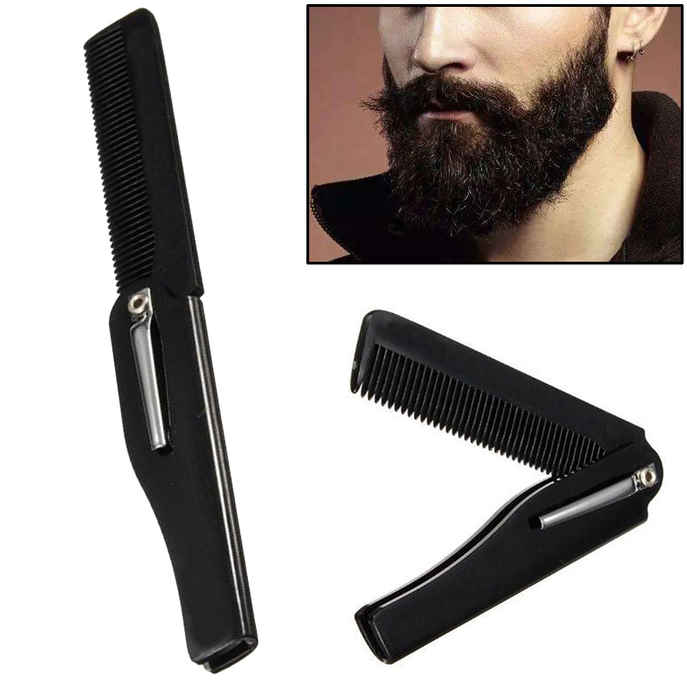Hair Comb New Men's dedicated Stainless steel folding comb