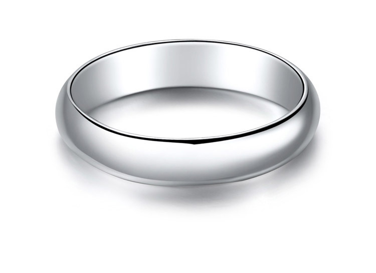 Classic Sample Man Ring GVBORI New 18K White Gold Ring White Gift