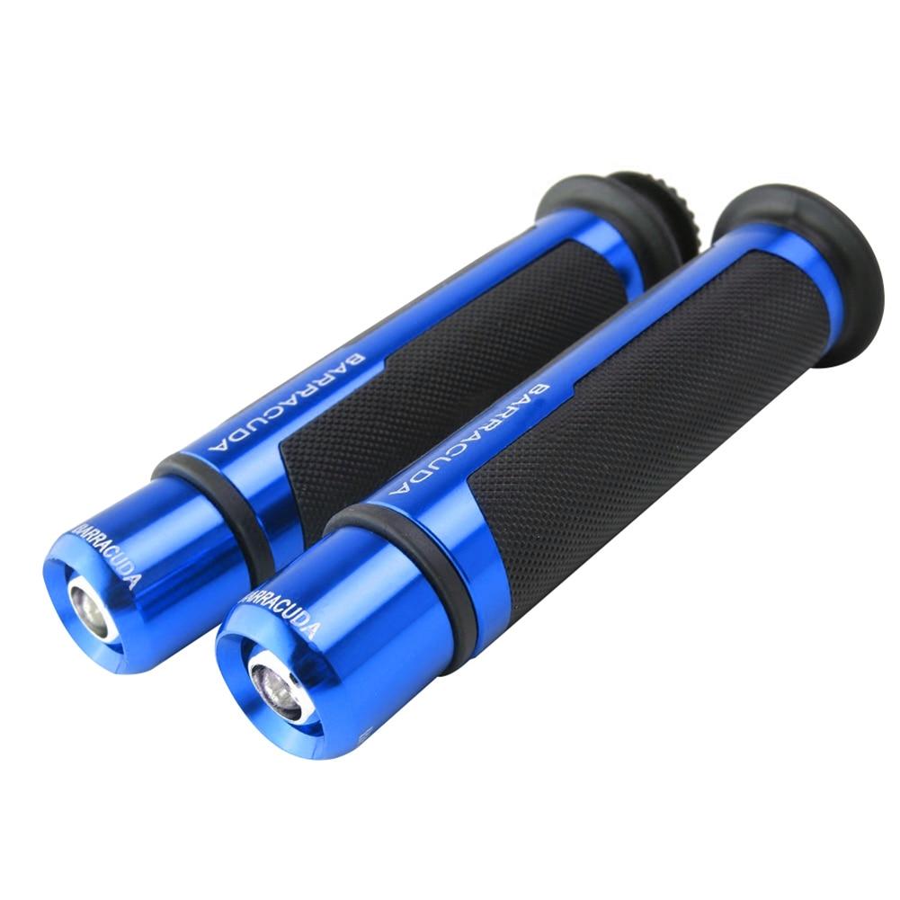 2 шт./компл. Универсальный Алюминий Сплав мотоцикл рукоятка зажимные приспособления Запчасти - Цвет: Синий