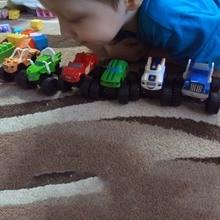6 шт. Монстр машины автомобиль русский автомобиль чудо грузовик Blaze супер трюки Блейзер подарки на день рождения игрушки для детей 2A017
