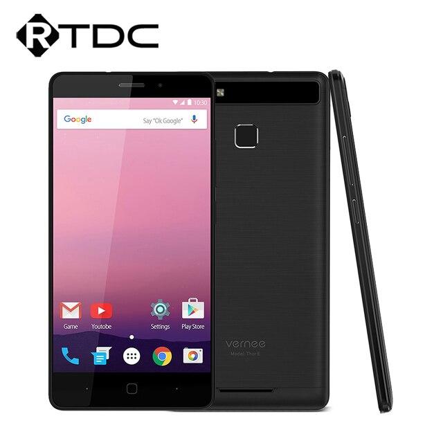 """Оригинальный vernee Тор E 4 г LTE мобильный телефон MTK6753 Octa Core 5.0 """"HD Android 7.0 3 ГБ Оперативная память 16 ГБ Встроенная память 5020 мАч 9 В/2A Quick Charge"""