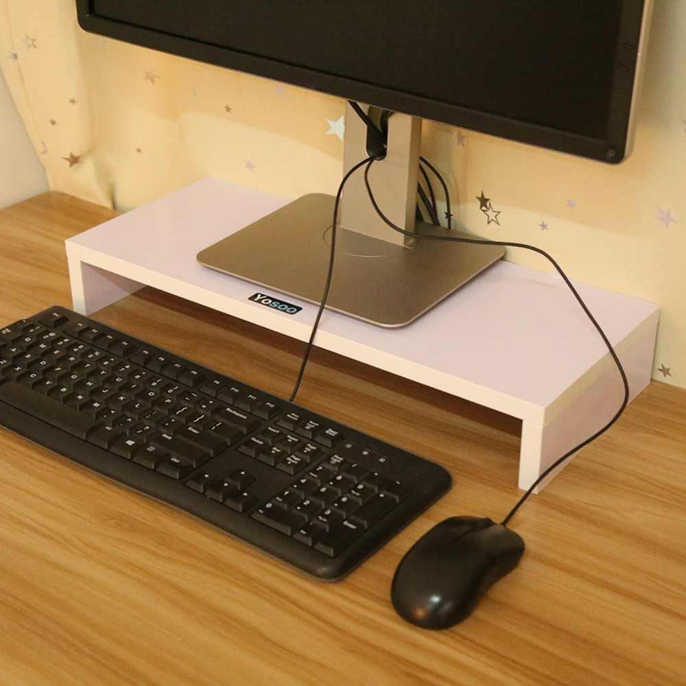 الخشب حامل تلفاز LCD LED حامل شاشة الكمبيوتر الشاشة الناهض للكمبيوتر المحمول TV Kit عيد الميلاد أيام خشبية سطح المكتب مكتب للحاسوب شخصي