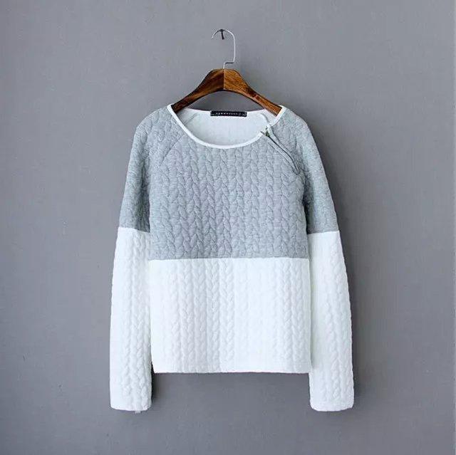 New 2017 Spring Autumn Women Fashion Casual Pullover Hoody Sandwich Cotton  Warm Girls Hoodies Winter Clothing 2c9da158a669