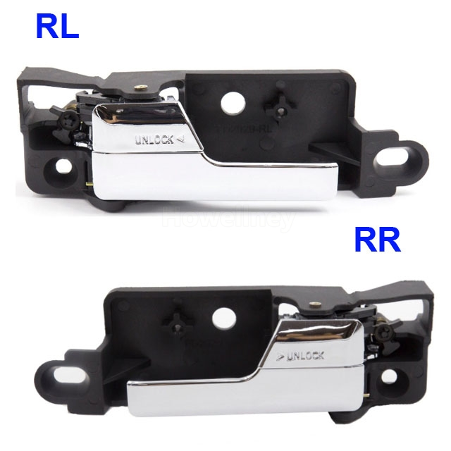 2 pcs Left/Right Inner Inside Interior Door Handle Chrome 6E5Z5422601A 6E5Z5422600AA For Lincoln MKZ Mercury Milan <font><b>Ford</b></font> <font><b>Fusion</b></font> image