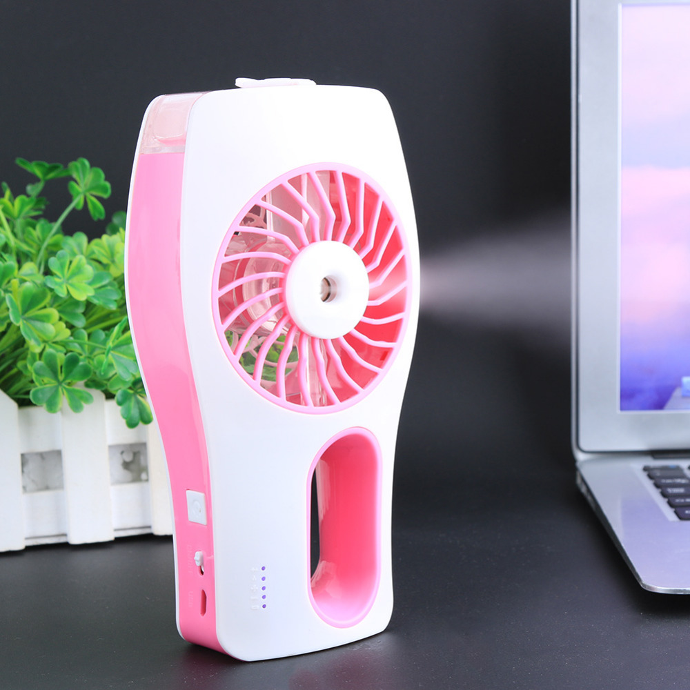 Mini Misting Fan Builtin Rechargeable USB Fan Handheld Personal Cooling Mist Humidifier for Home Office Portable Air Conditioner цена