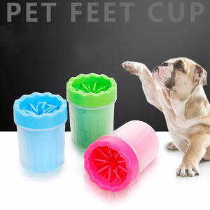 Pet Supplie Dog Paw Washer Cup Portable Silicone Cleaning Products Dogs And Cats Feet Prevent Dog Paw Print From Carpet Floor