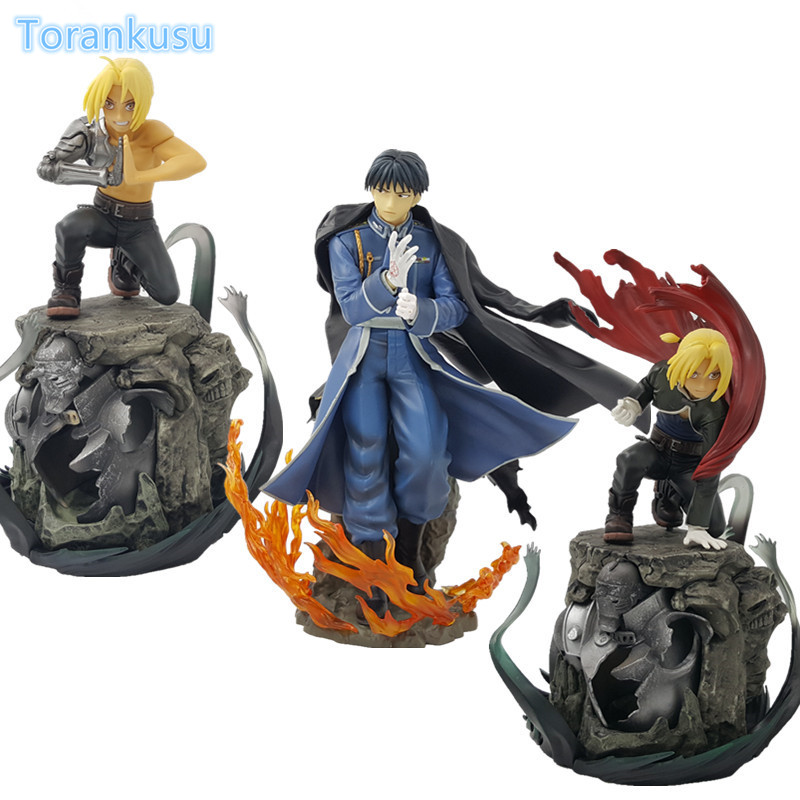 Fullmetal Alchemist Action Figure Edward Elric Mustang PVC Figure Toy Diorama Anime Fullmetal Alchemist Collectible Model Doll naruto kakashi hatake action figure sharingan ver kakashi doll pvc action figure collectible model toy 30cm kt3510