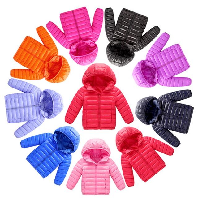 2018 new Spring Children Coat Autumn Kids Jacket Boys Outerwear Child Coats Baby Clothes girls Lightweight down cotton Clothing