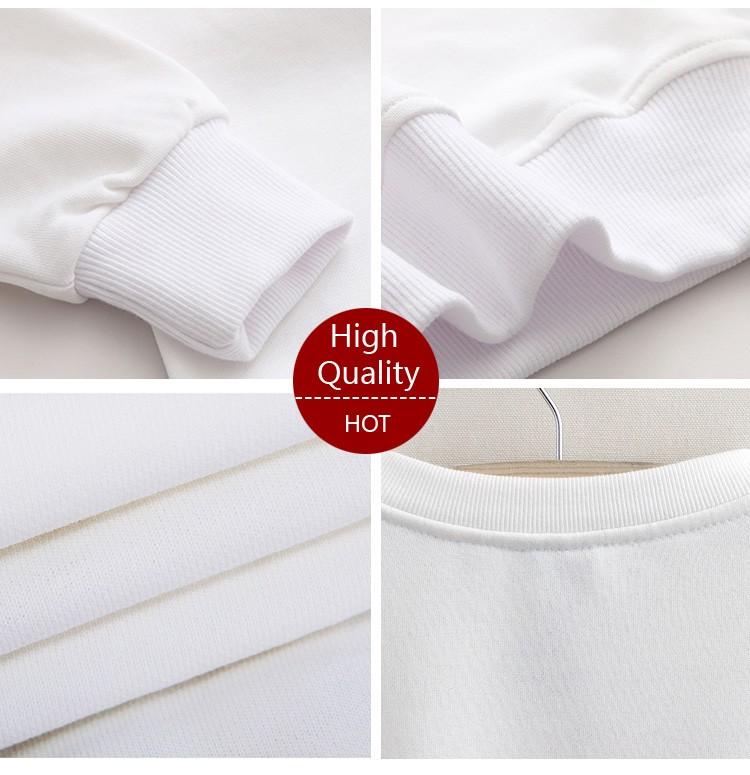 Animal Rabbit Print Sweatshirts Full Sleeve O-Neck White Kawaii Hoodies New Fashion Sweatshirts Autumn Harajuku Loose Pullovers 11