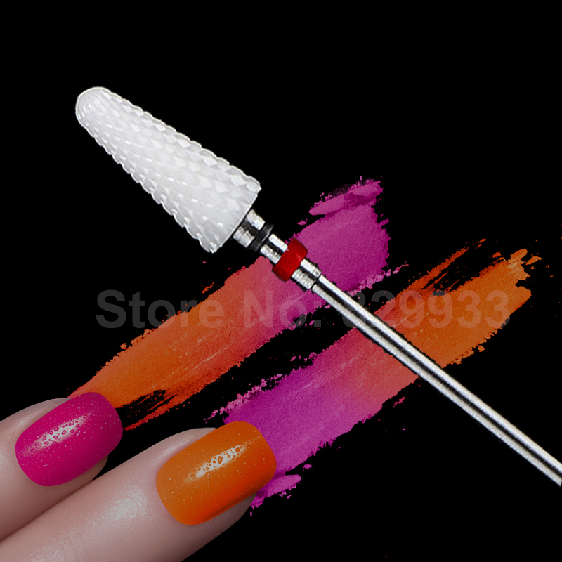 1pc Conico Nail Drill Bits Fine Toothing Nail Zirconia Ceramic Drill - Manicure