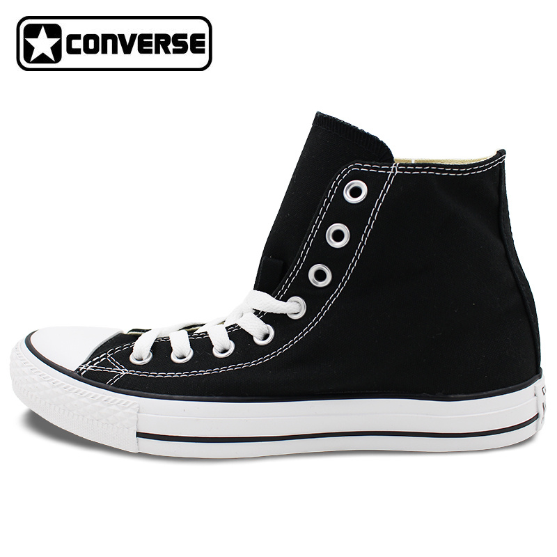 Custom BLACK Converse All Star Hand Painted Shoes High Top Canvas Sneakers Price Varies with Design pokemon go caterpie boys girls converse all star man woman shoes custom hand painted high top canvas sneaker men women