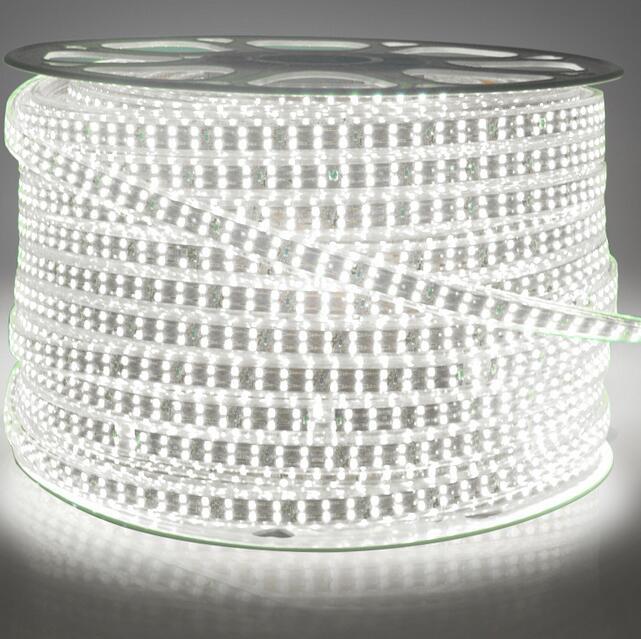 180 светодиодный/м SMD 2835 Светодиодная лента 220 в 230 в 240 В двухрядные светодиодные ленты веревочная лента для украшения дома сада - 5