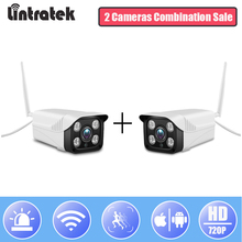 hot deal buy lintratek surveillance wifi security camera hd 720p cloud storage bullet ip camera 4 ir lights indoor/outdoor wi-fi camera