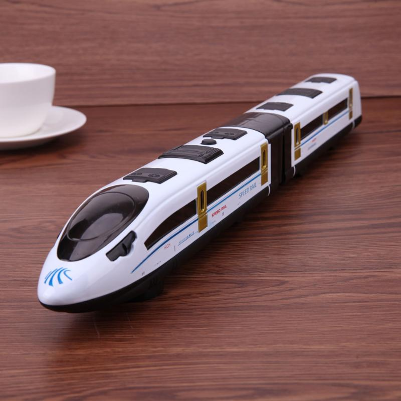 High Simulation Model Toys CRH Railway Model Alloy Train Model High-speed with LED Light and Music for Children Birthday Gift