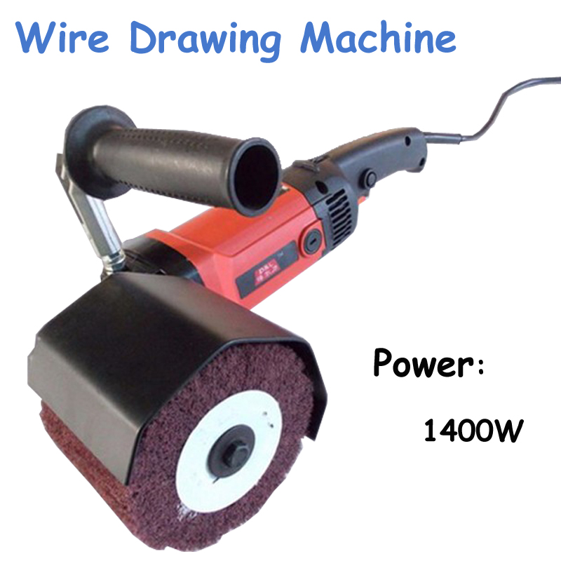 1pc Wire Drawing Machine Stainless Steel Polishing Machine Flat Machine Polisher Metal Wire Drawing DL-180A middle wire drawing machine copper wire drawing parts tungsten carbide coated 45 steel ring steel rim