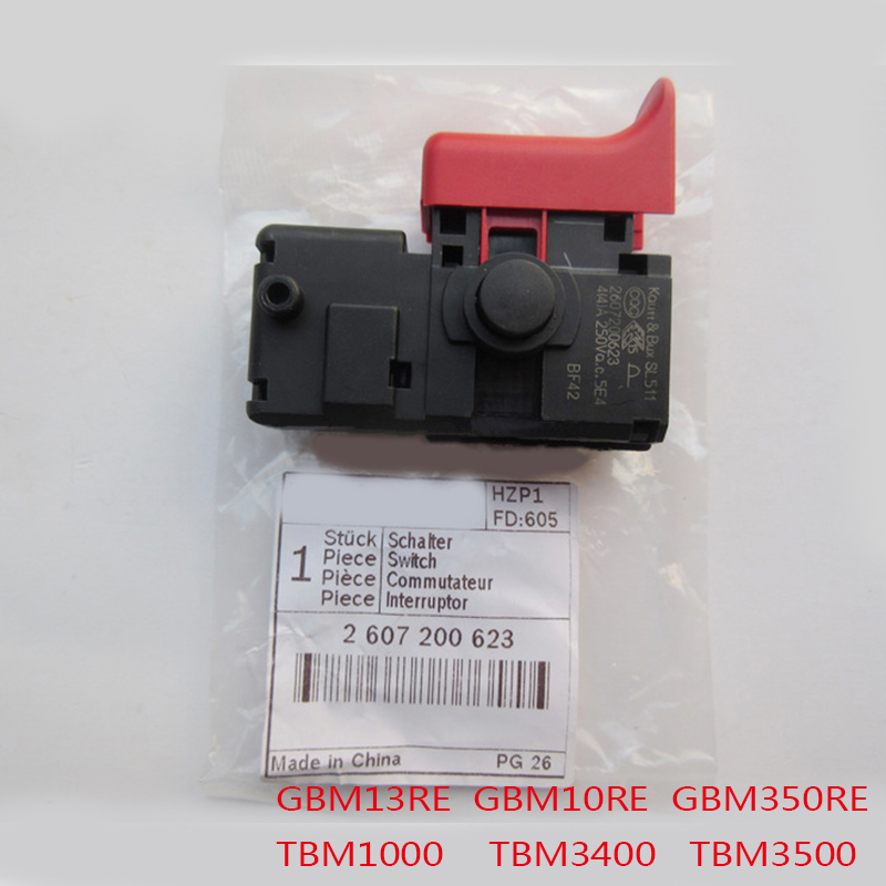 Free Shipping! New Electric Drill Switch For Bosch GBM13RE/GBM10RE/GBM350RE TBM3400/TBM1000/TBM3500,High-quality