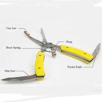 ANGRYFISH sprzęt wędkarski nożyczki wędkarskie sprzęt wędkarski linia cięcia przynęty przynęty szczypce do połowu żółty kolor L3 w Narzędzia wędkarskie od Sport i rozrywka na
