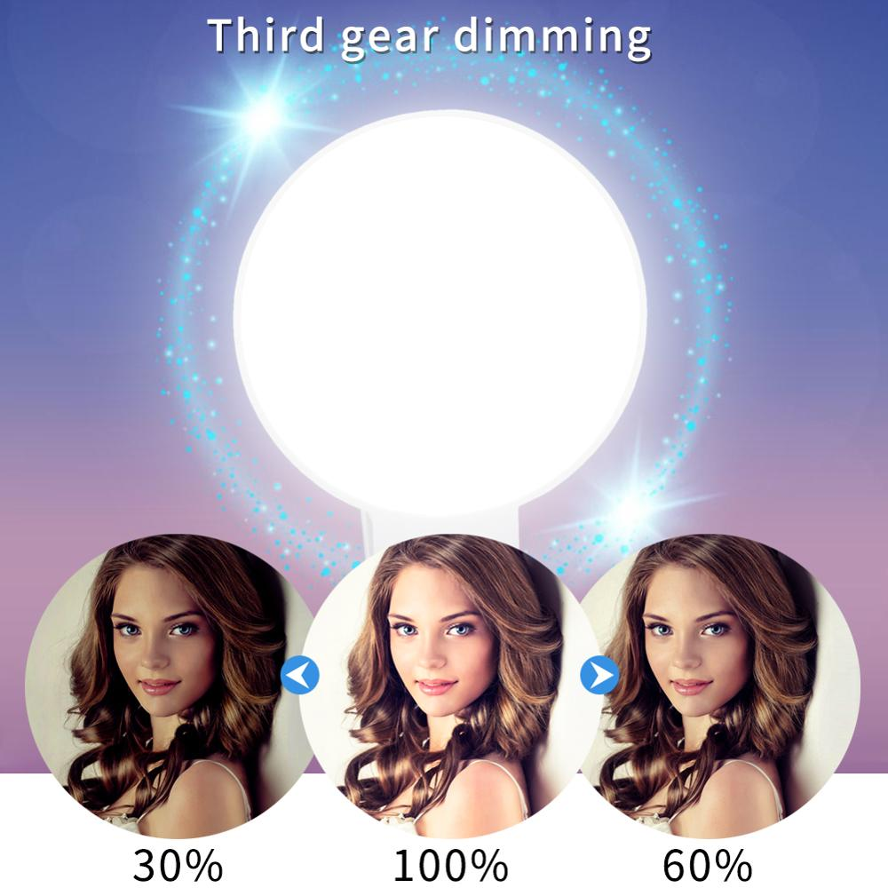 Image 2 - Mobile Phone LED Selfie Ring Light  Portable Circle Photography Clip Light Beauty Fill Lamp for Cell Phone Camera Rechargeable-in Novelty Lighting from Lights & Lighting