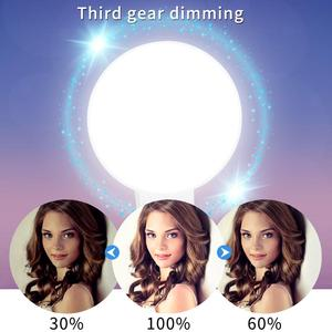 Mobile Phone LED Selfie Ring Light Portable Circle Photography Clip Light Beauty Fill Lamp for Cell Phone Camera Rechargeable