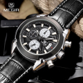 MEGIR Quartz Watch Men's Chronograph Titan Watch Genuine Leather Luxury Military Watches Relogio Masculino SL2020G 2016