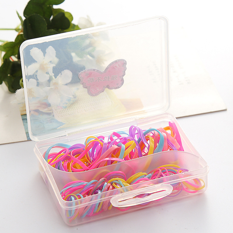 1 Box Rubber Rope Ponytail Hair Elastic Holders Rubber Band Ties Braids Plaits headband hair clips Hair Accessories hot sale hair accessories headband styling tools acessorios hair band hair ring wholesale hair rope