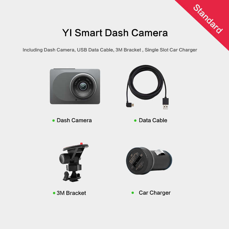 """يي الذكية داش كاميرا 165 درجة 2.7 """"1080 P 60fps ADAS تذكير آمن WIFI سيارة ريجستور الدولية شاومي يي جهاز تسجيل فيديو رقمي للسيارات صندوق أسود"""