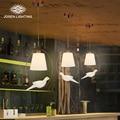 2017 New Hot lustre genuine zinc vintage bird bedroom lamp LED pendant lights Top novelty Indoor Lights birdcage light