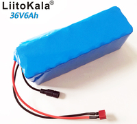 LiitoKala 36v6ah electric bicycle lithium ion battery 18650 6000mAh 10S3P large capacity battery pack bms 500W overcurrent