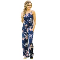 Womens Summer Sexy Off Shoulder Beach Holiday Playsuit Floral Printed Mini Casual Sling Jumpsuits