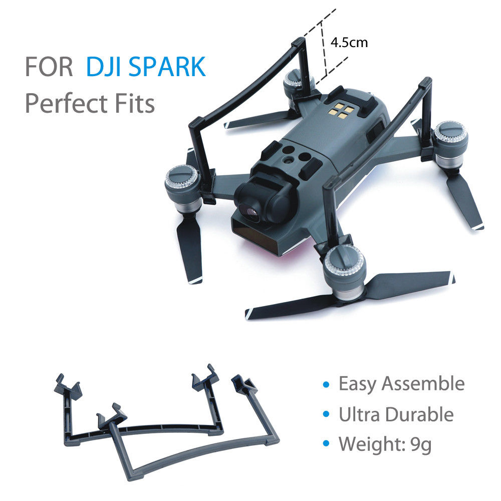 Drone Landing Gear For DJI Spark 2.5CM Heighten Landing Feet Bracket Camera Gimbal Protection Tripod Extensions Legs Replacement