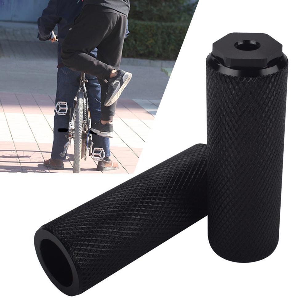 BMX MTB Bicycle Cylinder Axle Bike Pedal Aluminum Alloy Foot Stunt Pegs WE