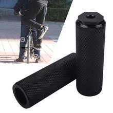 2 X BMX, ось для горного велосипеда, педаль, сплав, подножки для трюков, цилиндр, черный, MTB, педаль для велосипеда, противоскользящая, передняя, задняя ось, ножка