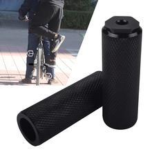 2 X BMX Mountain Bike Bicycle Axle Pedal Alloy Foot Stunt Pegs Cylinder Black MTB Anti-Slip Front Rear Pick