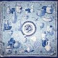 100% Bufanda de Seda Bufanda de Las Mujeres Florero Bandana Hijab Bufanda de Seda Grande 2017 Mejores Ventas de Medio Abrigo de La Bufanda de Seda Cuadrada Regalo Caliente para la navidad señora
