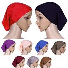Тюрбан декоративные Рамадан дорожные шапочки под хиджаб модные мусульманские аксессуары для волос мусульманский женский шарф богемная хлопковая шапка