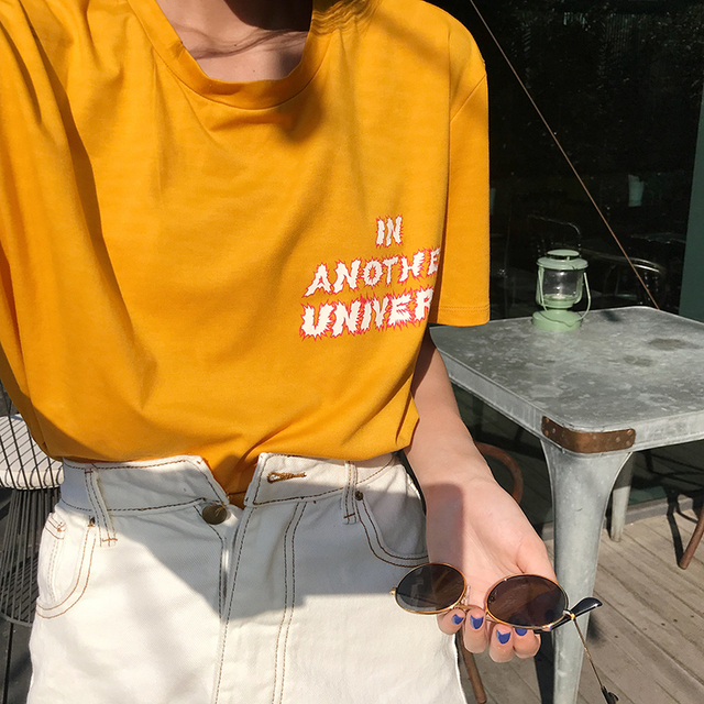 Girl's In Another Universe UFO Graphic Cotton Loose Top