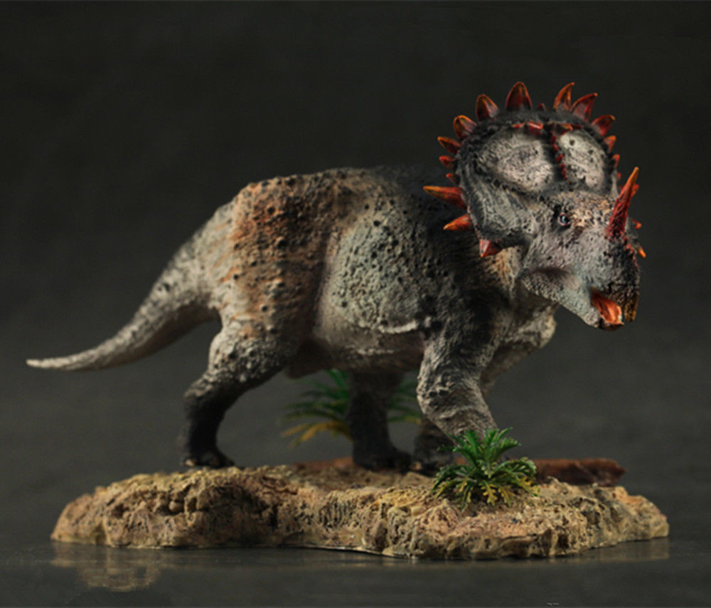 1:35 Scale Chinese Sinoceratops Figure Jurassic Dinosaur Model Base Ancient Biological Adult Kids Collection Toy Gift Home Decor