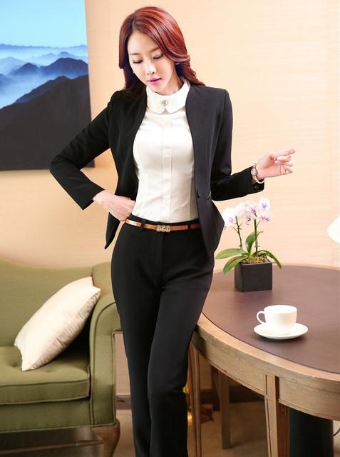 Plus Size 4XL Mulheres Se Adapte Às Jaquetas E Calças Uniforme Formal de Design Profissional de Negócios Pantsuits Formais Calças Femininas Conjuntos
