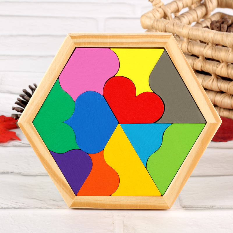Kids Wooden Geometry Jigsaw Puzzle Montessori Materials Eduactional Wooden Toys For Children Montessori Teaching Aids Board Game