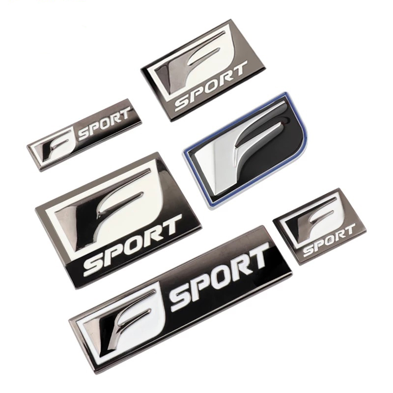 Car Styling Stickers F Sport For Lexus IS200T IS250 RX300 NX RX GS RX330 RX350 CT200 Body Badge Emblem Metal Decorative Sticker