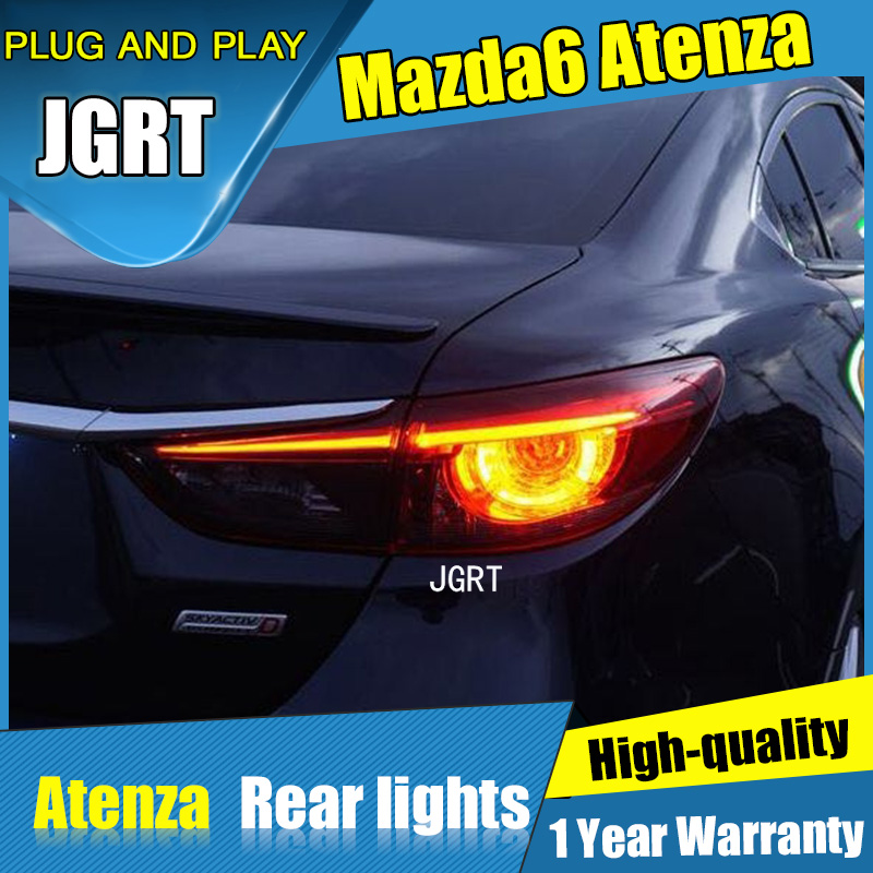 4PCS Car Styling for Mazda 6 Taillights 2014 2015 for Mazda 6 LED Tail Lamp+Turn Signal+Brake+Reverse LED light