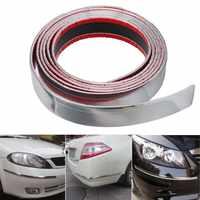 30mm 2.5m Exterior Car Chrome Auto Adhesive Strip Trim Tape Molding Styling Decoration Car Bumper Strip Protector Sticker