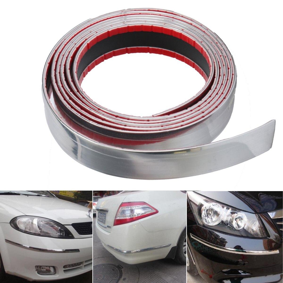 30mm 2.5m exterior chrome carro auto adesivo tira guarnição fita moldagem estilo decoração do carro pára-choques tira protetor adesivo
