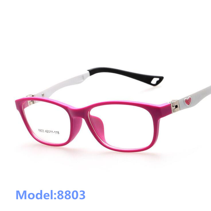 Kids Optical Frame Barn Glasses Girls Optical Frame Transparent Prescription Fleksibel TR Oculos de Sol Infantil 8803
