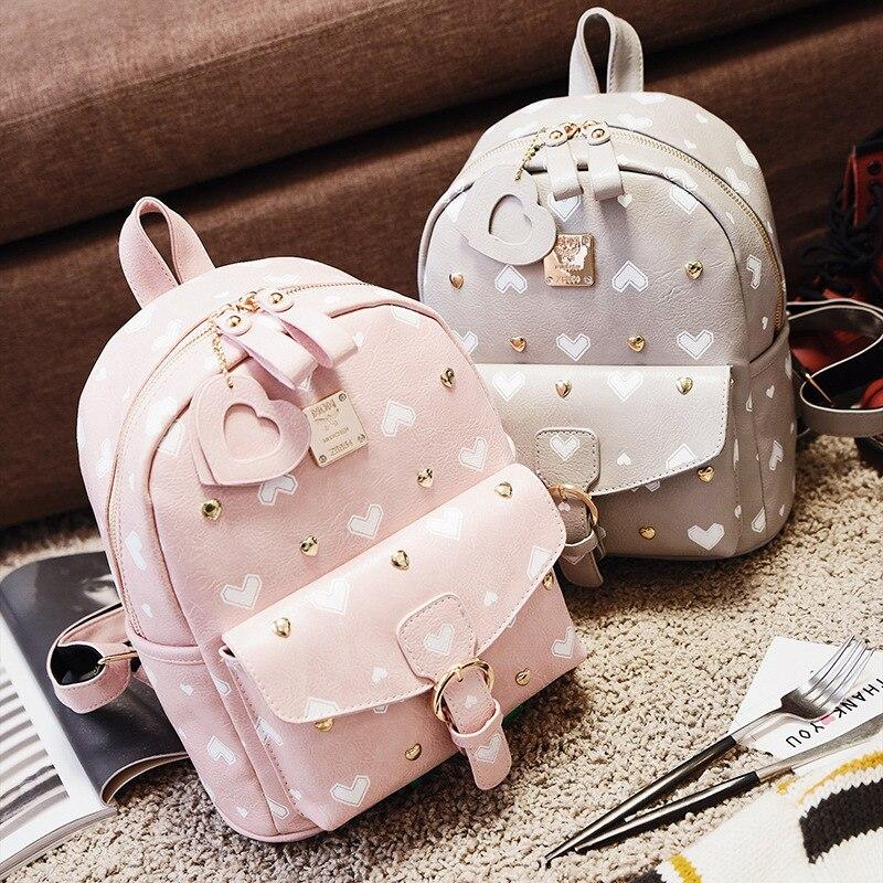 2017 new sweet lady peach heart women s shoulder bag PU leather geometric pattern popular women