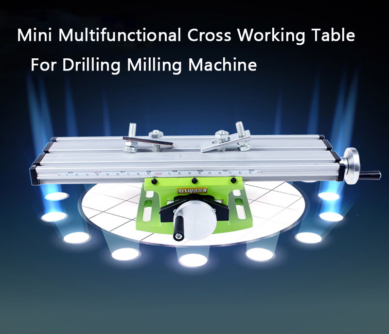 multi functional cross working table mini slide table support for