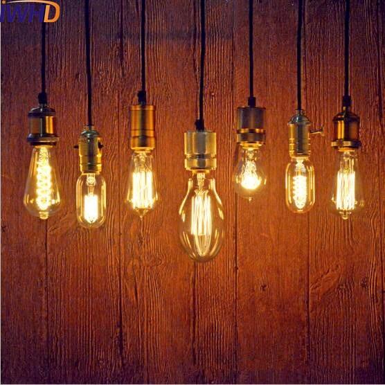 IWHD Single Head Loft Արդյունաբերական կախազարդ լուսատուներ Bar Cafe Edison Retro Vintage կախազարդ լույսերի լամպ Lamparas Colgantes